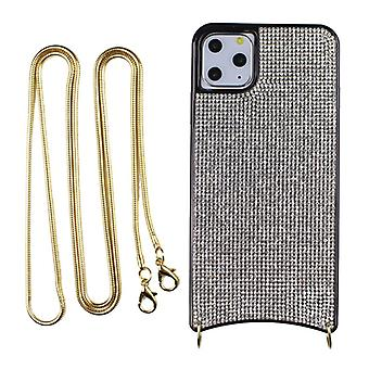 CaseGate phone chain for Apple iPhone 11 Pro Max phone chain necklace case cover - in silver - made of flexible TPU silicone