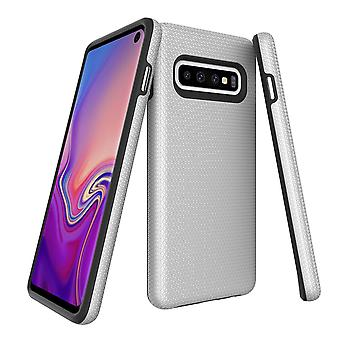 W przypadku Samsung Galaxy S10, Armour Silver Protective Durable Slim Phone Cover
