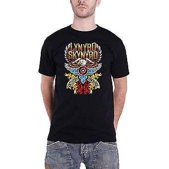 Lynyrd Skynyrd T Shirt Southern Rock And Roll Band Logo new Official Mens Black
