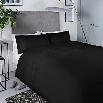 Pinsonic Cube Black Bedding Set