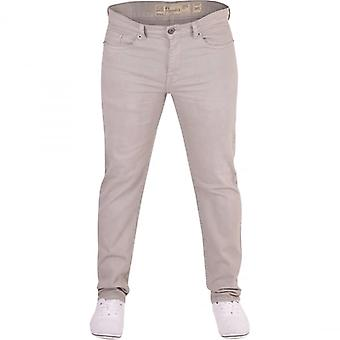 Crosshatch Mens Crosshatch Brand Hardwearing Heavy Duty Slim Fit Denim Jeans Chino Style Greys Trousers
