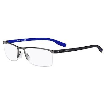 Hugo Boss 0610/N 5MO Dark Rutheium-Black Blue Glasses
