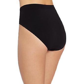 Bali Women's Microfiber Hi-Cut Panty, Black, 8/9, Black, Size 8.0