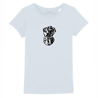 STUFF4 Girl's Round Neck T-Shirt/Infinity Gauntlet Thanos/Baby Blue