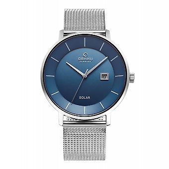 Obaku Nordlys Cyan Men-apos;s Solar Wristwatch V222GRCLMC