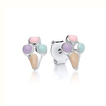 David Deyong Children's Sterling Silver Ice Cream Cone Stud Earrings