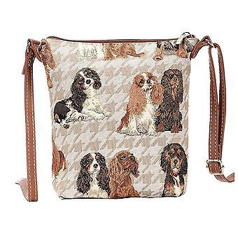 Cavalier king charles spaniel shoulder sling bag by signare tapestry / sling-kgcs