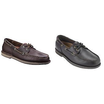 Rockport hombres Perth barco de zapatos de cuero