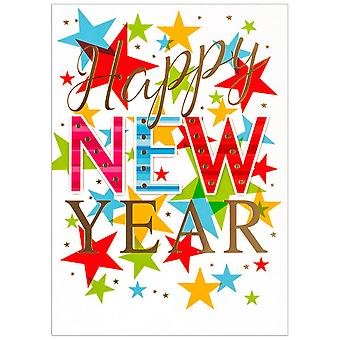 Simon Elvin Stars New Year Wishes Cards (Pack de 6)
