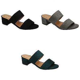 Anne Michelle Womens/Ladies Mule Strap Open Toe Shoes
