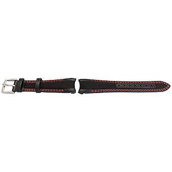 Rolex gmt ostras estilo pantorrilla negra lisa tela reloj híbrido correa de reloj híbrido de 20 mm wcp71611