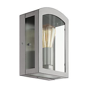 Eglo Paretta - 1 Light Outdoor Flush Wall Lantern Stainless Steel IP44 - EG97477