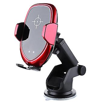 Universal 10w 7.5w 5w smart qi wireless fast charge auto lock car mount holder for samsung mobile phone