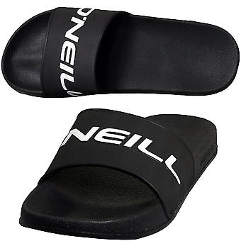 O'Neill Embossed Logo Slide Sandals, Black Out