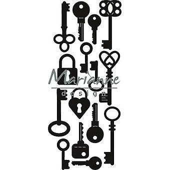 Marianne Design Craftables Cutting Stanz - Punch Die: Schlüssel CR1435 39x89 mm