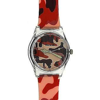 Time-It Childrens Analogue Orange & Brown Army Camouflage Plastic Strap Watch