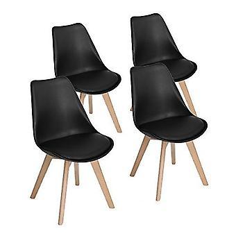 Wood4you - Frankfurt schwarzer Essstuhl - Pariso - Low - Sitzhöhe: 41 cm - 2 Stück