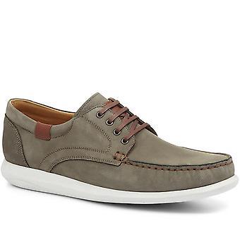 Dr Flexer Mens Ellis Wide Fit Leather Boat Shoes
