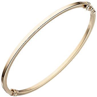 Bangle bracelet oval 585 gold yellow gold bangle