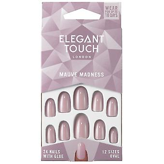 Elegant Touch Perfect Coloured False Nails Collection - Mauve Madness (24 Nails)