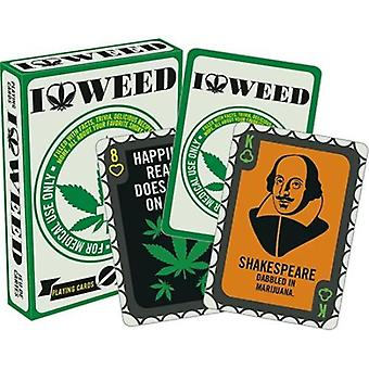 I love weed playing cards