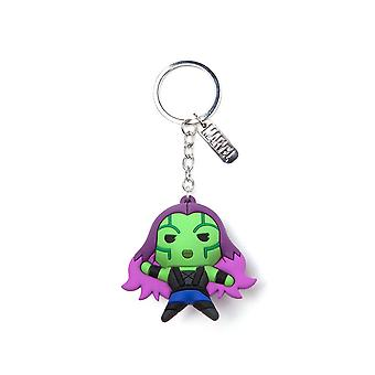 Official Marvel Guardians of the Galaxy Gamora Kawaii 3D Rubber Keyring / Keychain