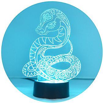 Dekorative slange farge skiftende LED akryl lyset