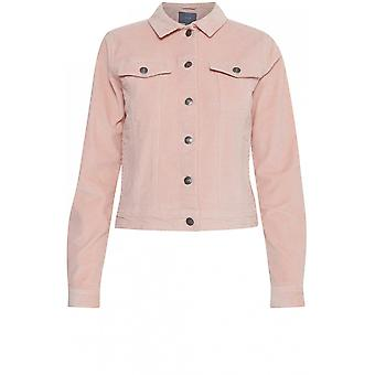 b.young Pink Fine Cord Jacket