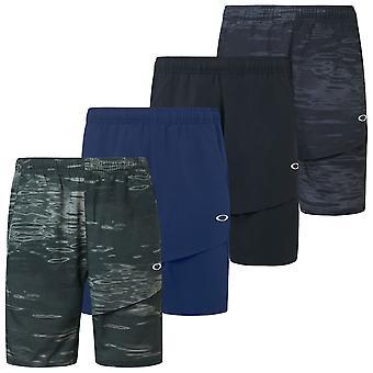Oakley Mens 2020 Aprimora mobilidade Wicking UPF 50+ Shorts elásticos