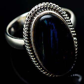 Pietersite Ring Size 7.75 (925 Sterling Silver)  - Handmade Boho Vintage Jewelry RING7969