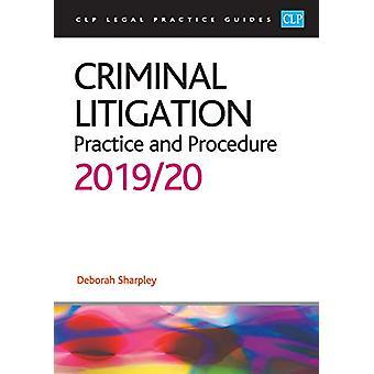 Criminal Litigation - 2019/2020 by Deborah Sharpley - 9781913226039 Bo