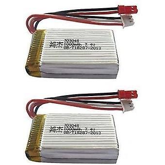 2 Pezzi Batteria Lipo Ricaricabile (7.4V 700mAh) per Rc Drone Quadricottero MJX X600
