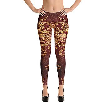 Fashion leggings | dragon | gold dragons