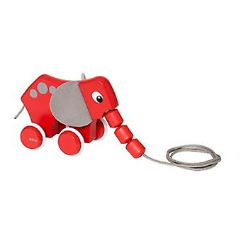 BRIO Pull Along Elephant 30186 Toddler Pull Along Wooden Toy