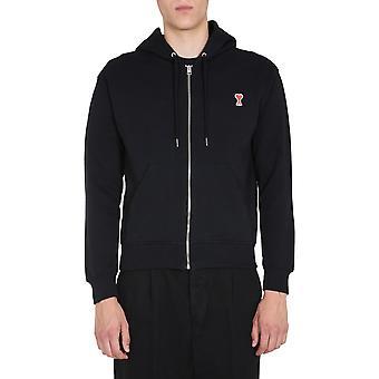 Ami A20hj006730001 Herren's schwarze Baumwolle Sweatshirt