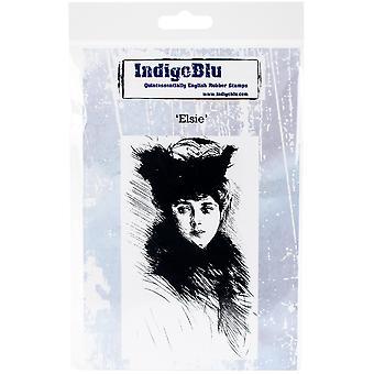 "IndigoBlu Cling Mounted Stamp 5""X4""-Elsie"