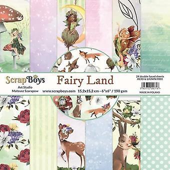 ScrapBoys Fairy Land paperpad 24 vl+cut out elements-DZ FALA-02 190gr 15,2cmx15,2cm