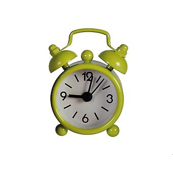 Lime Green Miniature Old Fashioned Style Alarm Clock - Cracker Filler Gift