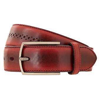 LLOYD Men's Cinturón cinturón de los hombres piel de vaca completa Burdeos 4752
