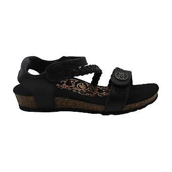 Aetrex Womens Jillian Leather Open Toe Casual Slide Sandals
