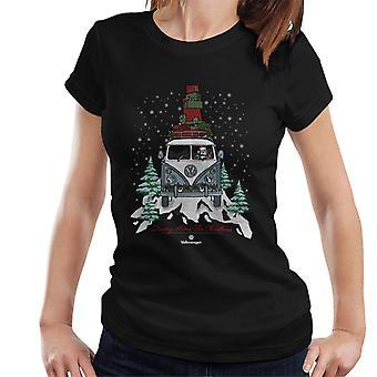 Volkswagen Driving Home Christmas Camper Women's T-Shirt