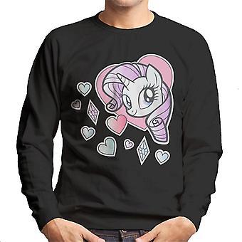 My Little Pony Rarity Heart Men's Sweatshirt