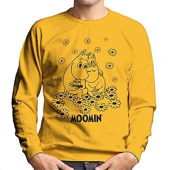 Moomins Flower Field Hug Men's Sweatshirt
