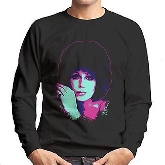 TV Times Joanna Lumley 1976 Pop Art stilisierte Männer's Sweatshirt