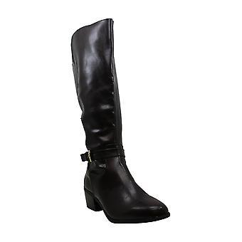 Karen Scott Womens fayth couro amêndoa joelho botas de alta moda