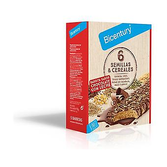 Bar 6 Cereals and Seeds milk chocolate 5 units