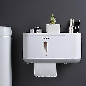 Portable, Waterproof, Wall-mounted And Semi-automatic Toilet Paper Dispenser