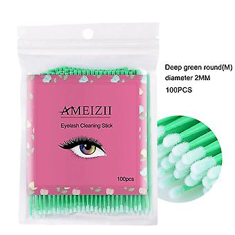 100pcs Eyelash Extension Disposable Colorful Cotton Swabs , Eyelash Brushes