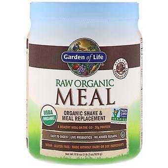Giardino della vita, pasto biologico RAW, Shake & Meal Replacement, Cioccolato Cacao, 17.