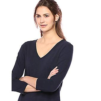 Marke - Daily Ritual Women's Lived-in Cotton 3/4-Sleeve V-Ausschnitt Kleid, ...